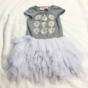Other - Girls Floral Daisy Bling Ruffle Tulle Dress